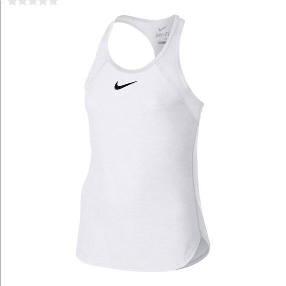 cd649d7ce30a Nike girl s slam tennis white court tank top